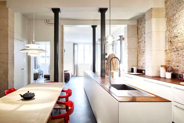 Parisian Apartment by CUT Architects are Unique and Memorable – InteriorZine