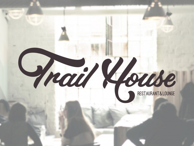 Trail House hand drawn logotype by Jenna Bresnahan