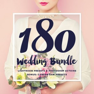 The Best Wedding Lightroom Presets & Photoshop Actions Bundle. Designed to drastically impro ...