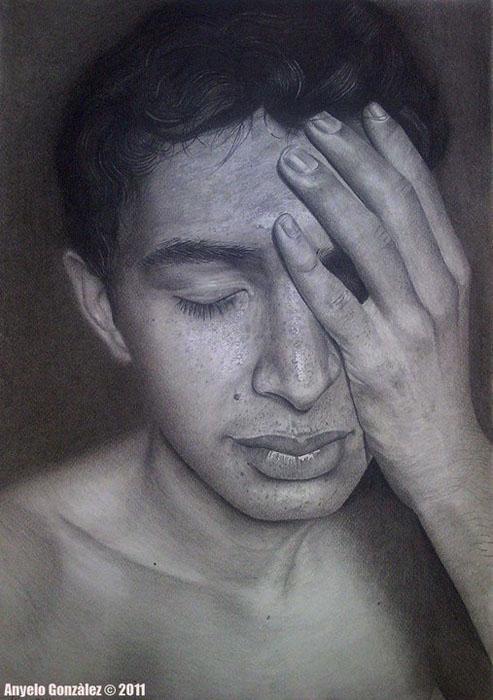 Autorretrato 50×35 cm 2011 Pencil on paper