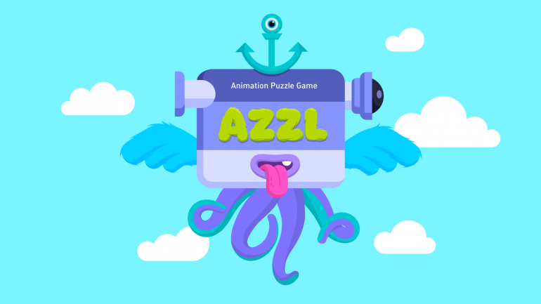 Game illustrations showcasing animation design from AZZL game full of beautiful artwork and anim ...