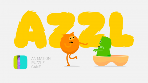 Characters from AZZL game full of beautiful artwork and animated visuals.
