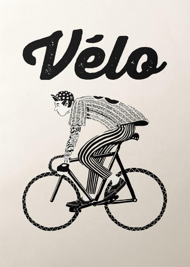 Bicycle Graphic Design – Velo series