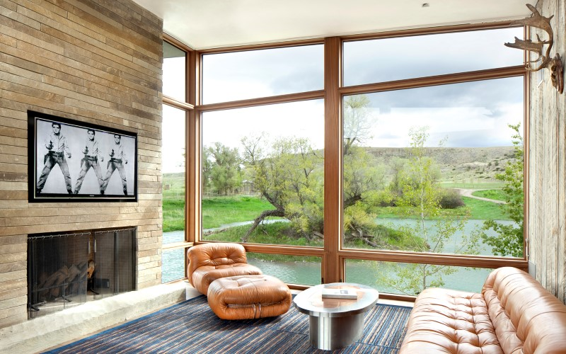Big Timber Riverside House – Montana ranch by Hughesumbanhowar Architects