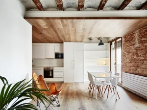Borne apartments: modern décor combined with original wooden beams