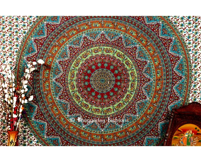 Buy Multicolor Handlook Hippie Tapestry
