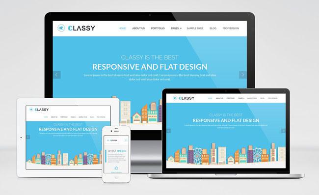 ClassyLite : Free Responsive Business WordPress Theme
