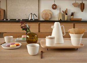 Coffee Set With a Wooden Tray by Luca Nichetto – InteriorZine