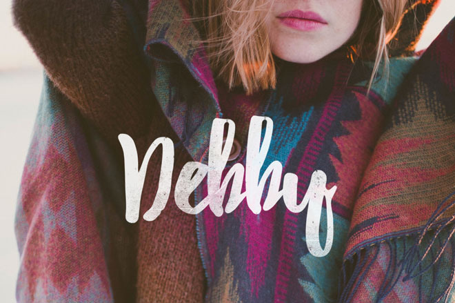 Debby : Free Hand-drawn Brush Font