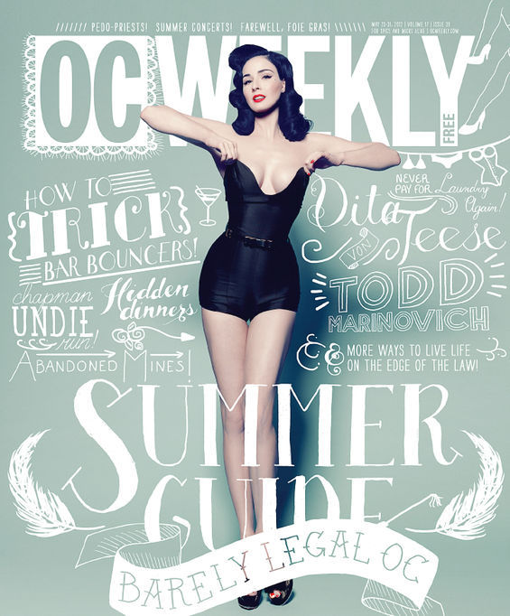 Dita Von Teese On The Cover Of OC Weekly