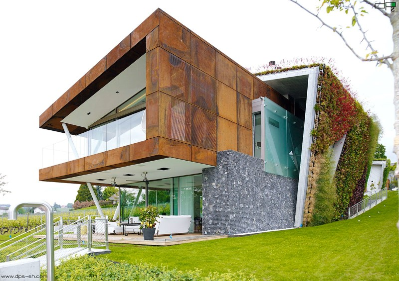 Eco friendly house design – Villa Jewel Box with an multifaceted garden outer shell