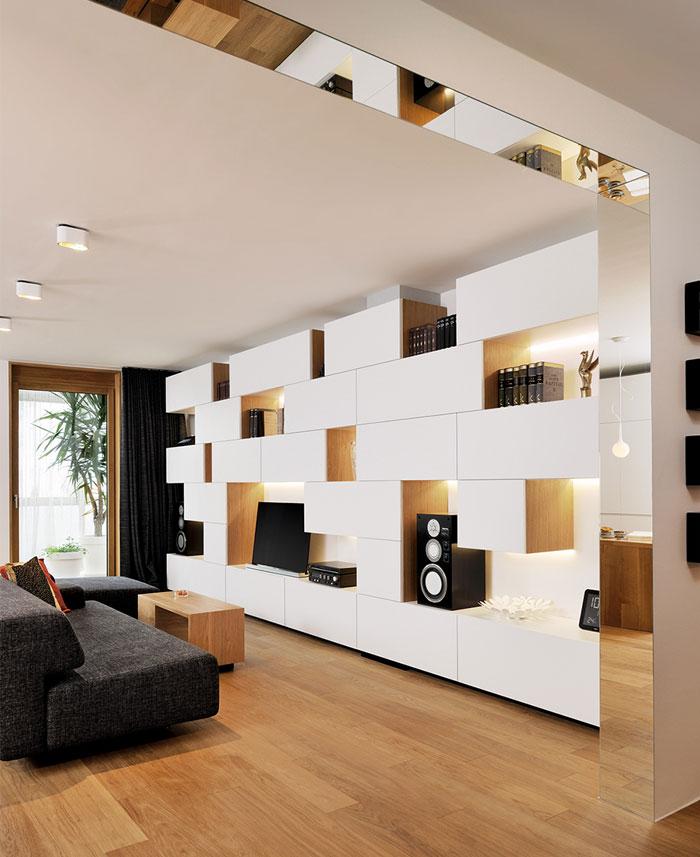 Elegant Ljubljana Apartment with Geometric Lines by Lidija Dragisic Studio 360 – InteriorZine