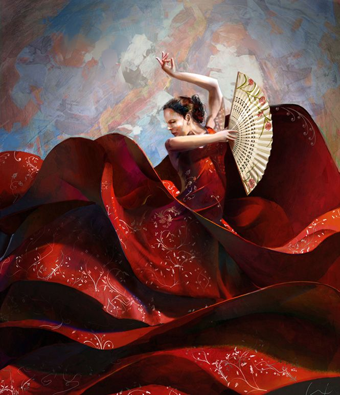 Flamenco. Digital painting by Francisco Jose Albert Albusac, Spain. Software: photoshop CS5. | a ...