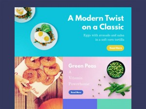 Food Magazine Website Template (PSD and Sketch)