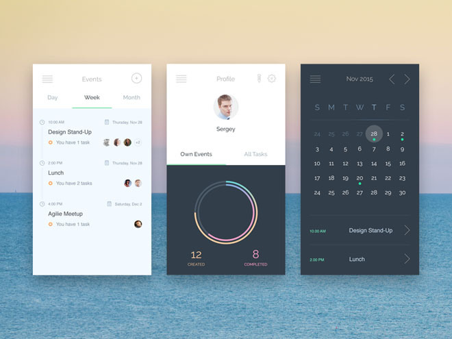 Free Events App UI PSD – Freebiesjedi