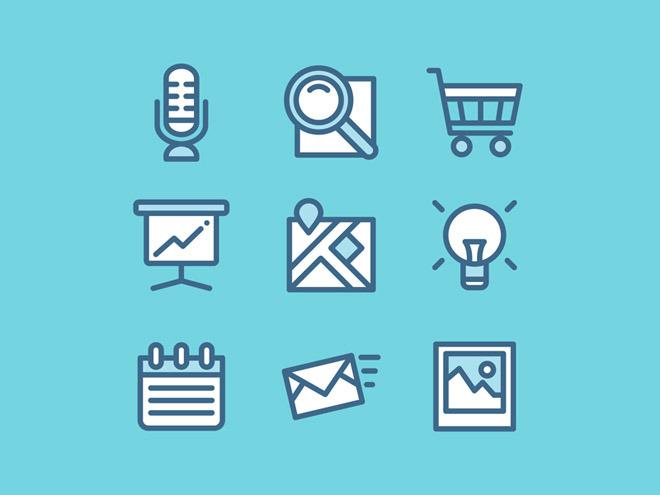 100 Free Web Vector UI Icons –