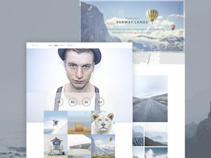 Freelance Photographer PSD Website Template