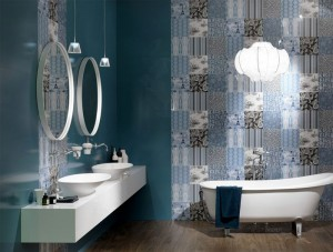 Great Colour Trend in Bathroom Wallcovering – InteriorZine