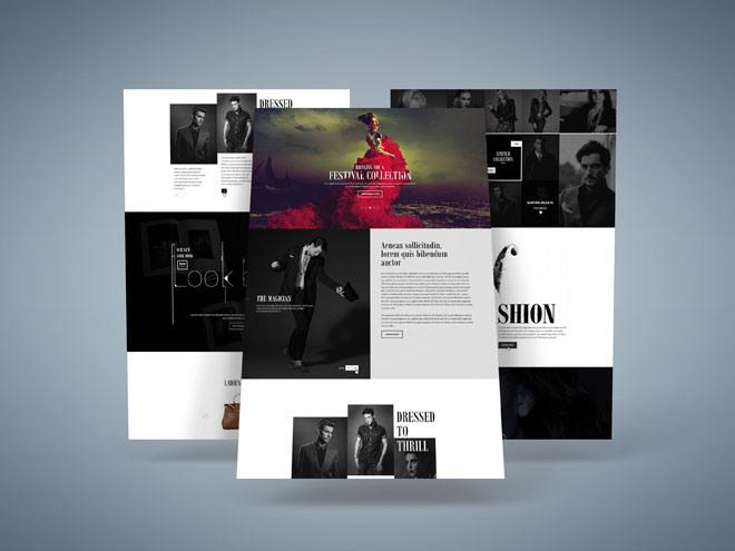 H&S : Free Fashion PSD Website Template – Freebiesjedi