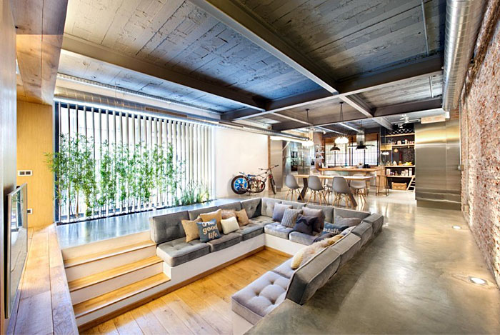 Industrial Loft Space With Fresh Green Decor – InteriorZine
