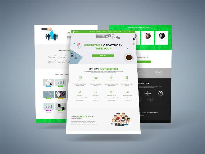 Joby : Free Job Board Landing Page Template