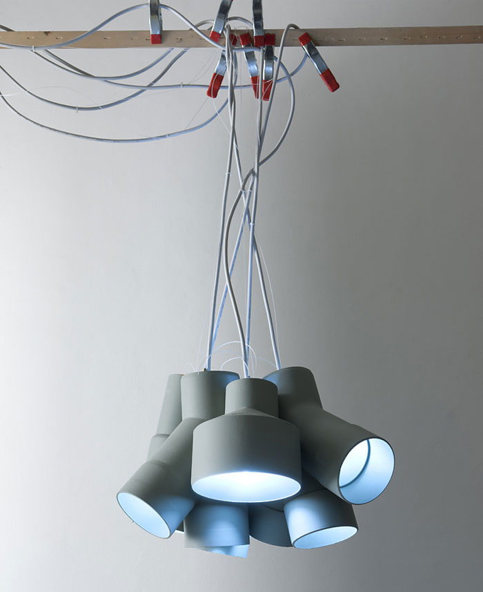 Lamps Inspired By Industrial Tubes – InteriorZine
