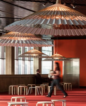 Light Fixture Made of Bamboo Umbrella – InteriorZine