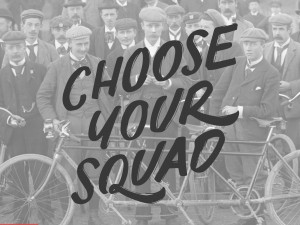 """Choose Your Squad"" hand drawn typography by Jenna Bresnahan"