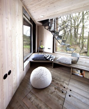 Modernistic Wooden House Zilvar – InteriorZine