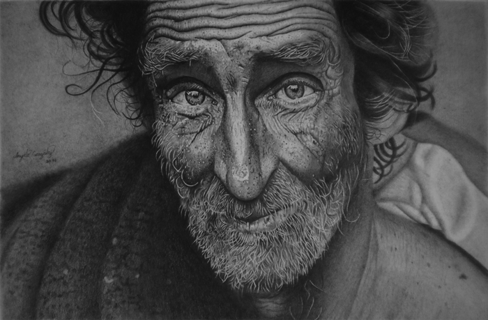 Hyper-realism pencil drawing of graphic, by Anyelo González