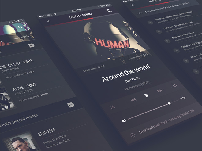 Philomela – iPhone 6 App Audio Player