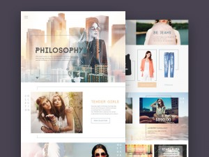 An elegant fashion store template made in with an unique style.