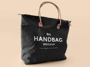 Realistic Handbag Mockup PSD