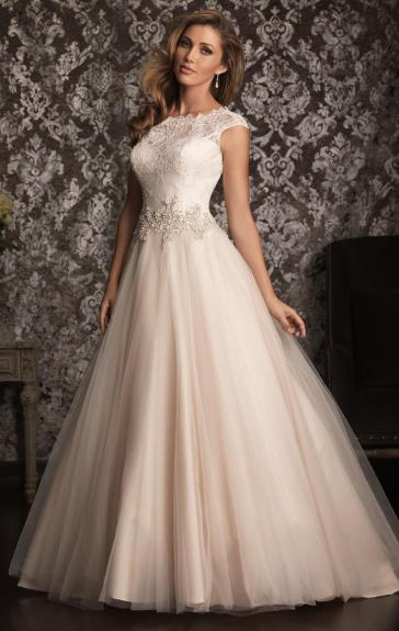 SheinBridalDress.co.uk – Vintage Long Wedding Dress HSNAL0211