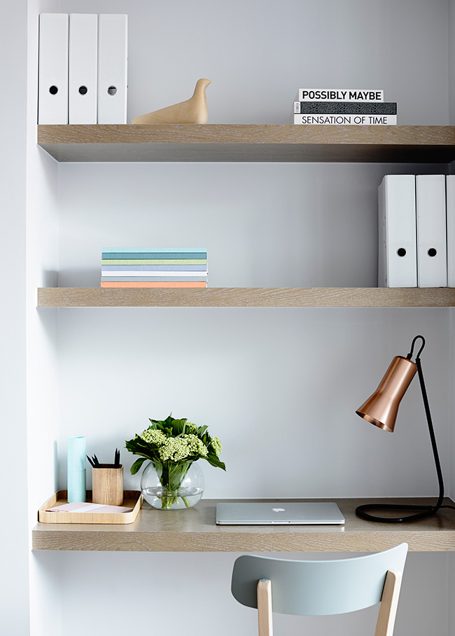 Soft colors & Scandinavian inspiration – Home office