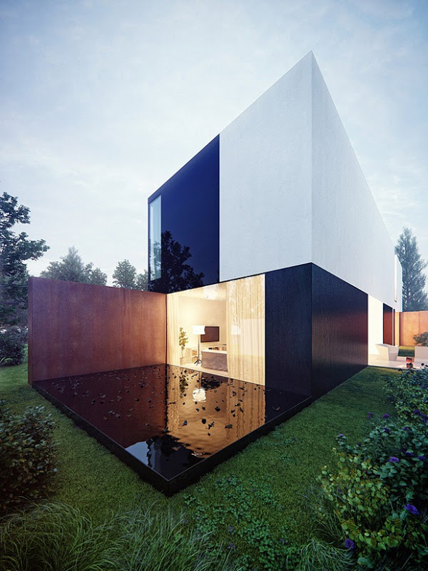 Highly-contrasted House