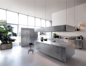 Stainless Steel Kitchen Design by Abimis – InteriorZine