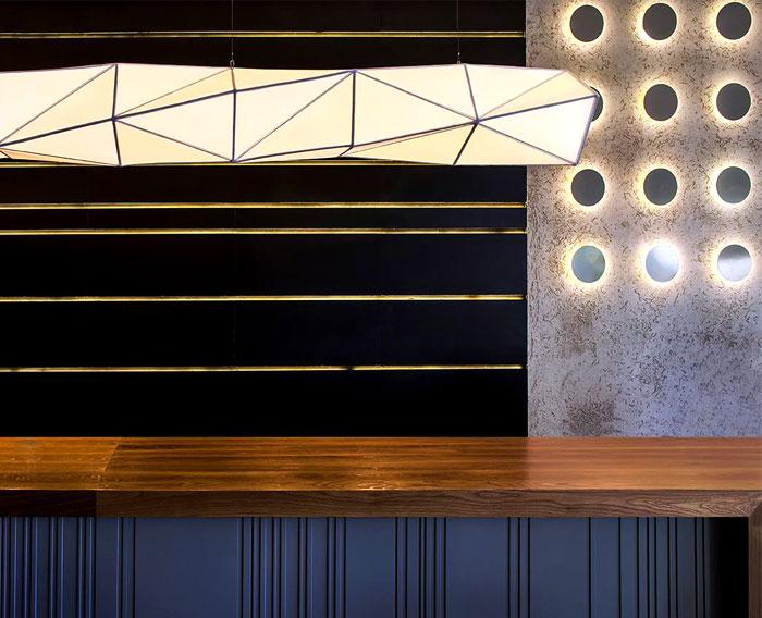 Sushi Restaurant with Origami Lights – InteriorZine