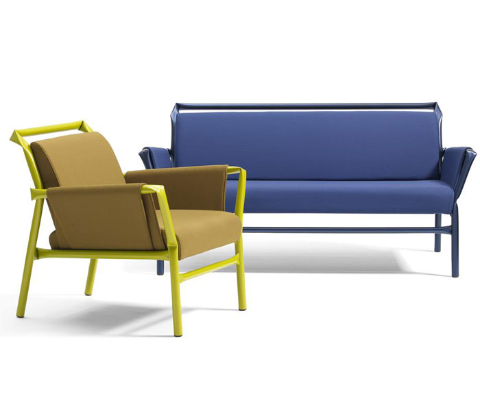 Tubular Steel Furniture in Cheerful Colors – InteriorZine