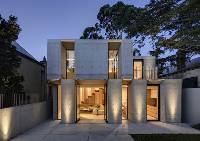 Two Storey Concrete and Timber Frame House – InteriorZine