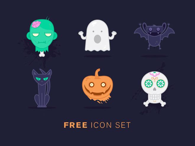 Unique Halloween Icon Set
