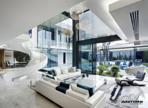 U-Shaped Modern Family Home by SAOTA – InteriorZine
