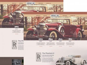 Vintage Car : Free Automotive PSD Website Template