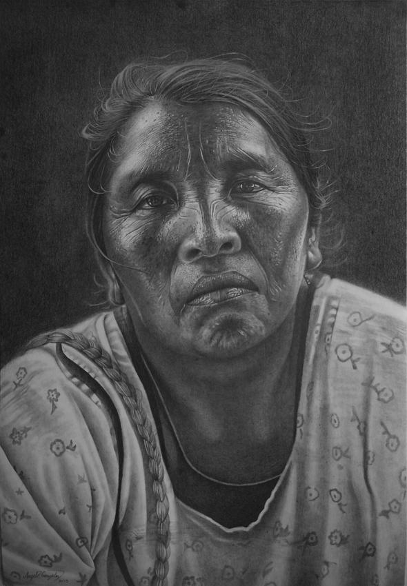 Alma Wayuu 48×38 cm 2015/ Charcoal drawing on paper 48×38 cm 2015 Alma wayuu es la rep ...