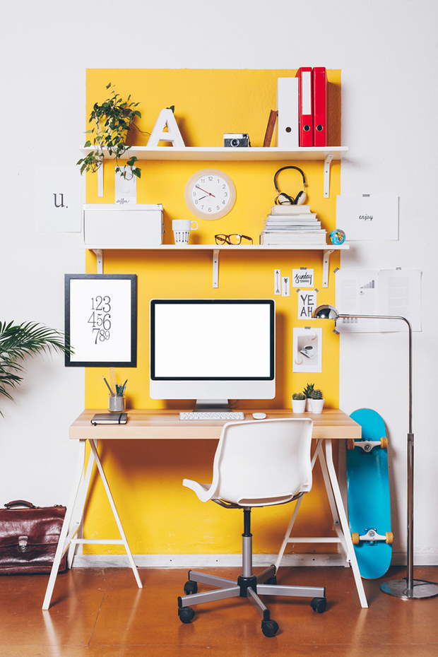 Yellow Workspace by Michelle Kenyon-Weston