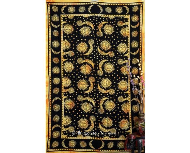 Hippie Podar Sun Moon Stars  Tapestry