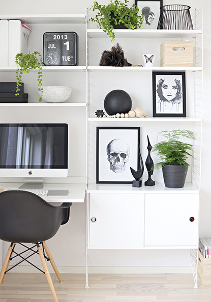 A monochrome family house – Workspace