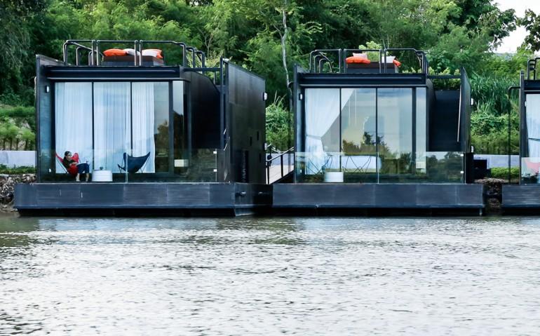 Agaligo Studio Have Designed X-Float on the River Kwai Bridge, Thailand