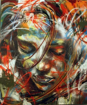 Amazing Brushless Graffiti Portraits by David Walker | David Walker, David and Graffiti