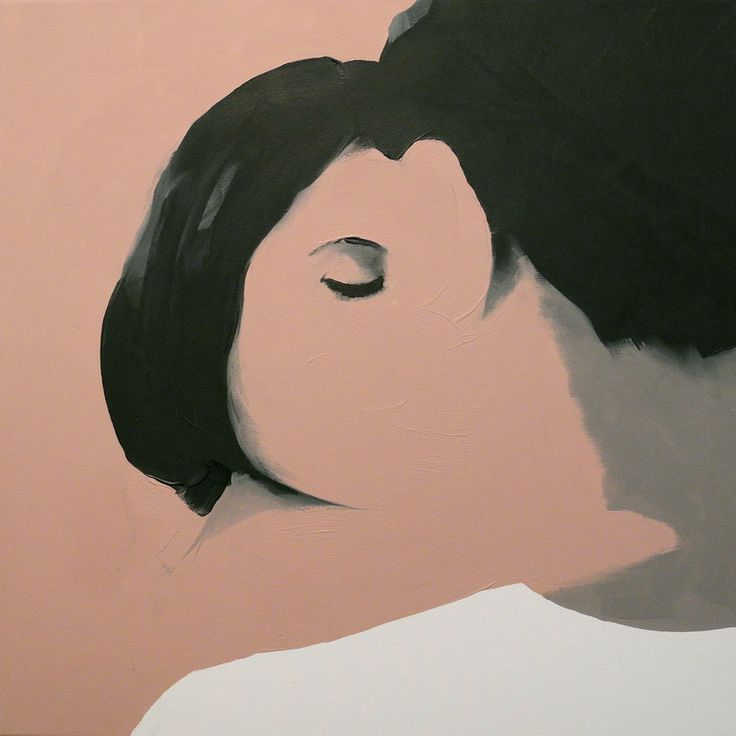 "Artist: Jarek Puczel; Oil 2012 Painting ""Lovers (2)"" 